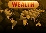 Wealth world map
