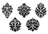 Floral and foliate damask design elements