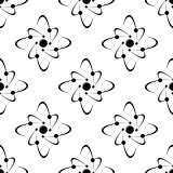 Seamless pattern of molecules