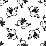 Swirling floral seamless pattern background