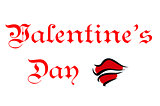 Valentines Day greeting card header