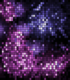 Pixelated background in blue and purple