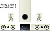 Home cinema speker system