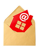 E-Mail and Home Symbol, concept of online Real Estate