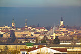 Town of Bjelovar winter skyline