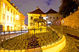 Zagreb stone gate sanctuary night view