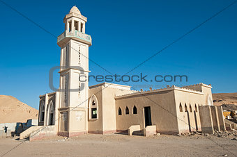 Abandoned mosque in ghost town