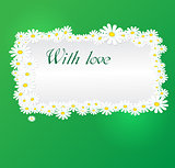 Vector romantic background with daisies