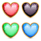 Heart shaped gems.
