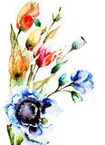 Original Spring flowers