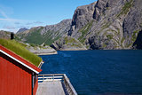 Traditional norwegian fishing house