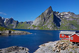 Fjord on Lofoten islands
