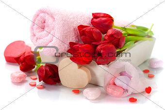 Bath and spa Valentine theme