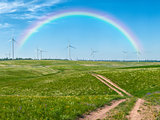 Windmills and rainbow