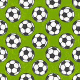 Seamless soccer pattern, vector background