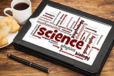 science branches word cloud