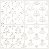 Set of seamless monochrome patterns with Australian flora.