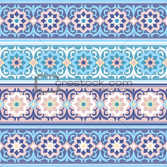 vector seamless Traditional Muslim floral  ornament