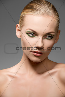 caucasian female in beauty portrait