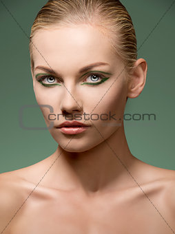 sensual caucasian girl with make-up