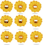 funny sunflower emoticons