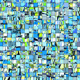 abstract tile mosaic backdrop in green blue