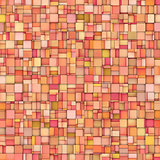abstract tile mosaic backdrop in orange pink