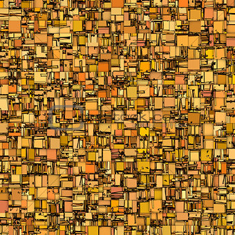 abstract tile mosaic backdrop in orange