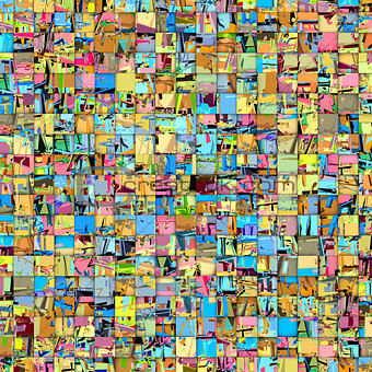abstract tile mosaic backdrop in multiple color