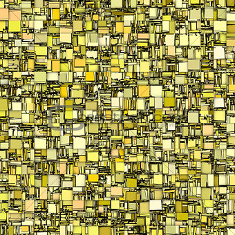 abstract tile mosaic backdrop in yellow