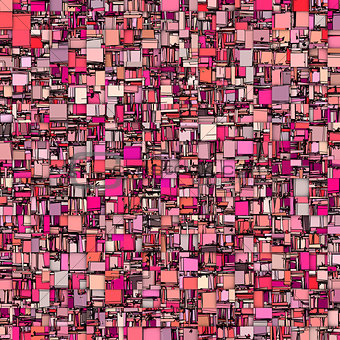 abstract tile mosaic backdrop in magenta pink