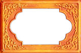Design on the wooden frame