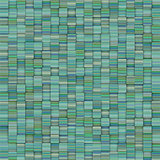 mosaic tiled blue green striped backdrop