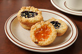 Gourmet jam filled shortbread cookies