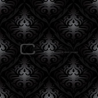 black silk floral abstract wallpaper pattern