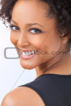 Beautiful Mixed Race African American Girl Woman