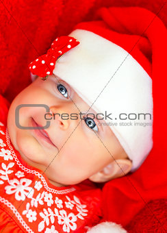 Little baby on Christmas celebration