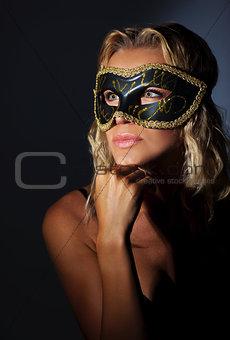 Beautiful female wearing mask