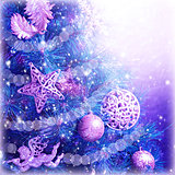 Christmas tree magic background