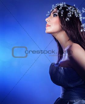 Beautiful snow queen