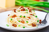 Pasta with bacon