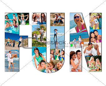 Montage of Family People Having Fun