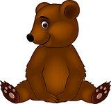 Funny baby bear