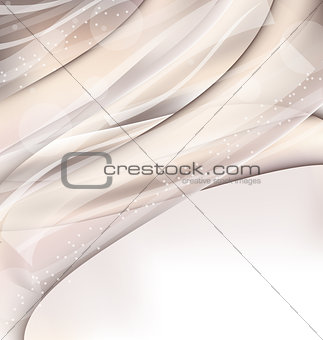 Abstract wavy background with lighting effect