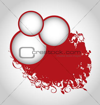 Grunge background with red circles