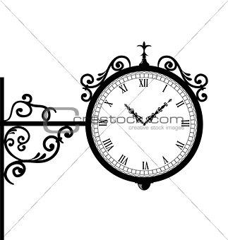 Forging retro clock with vignette arrows