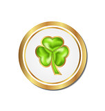 Shamrock sticker isolated for Saint Patrick day