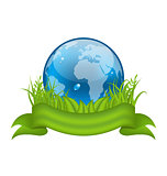 Go green life, environment symbol isolated on white background