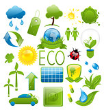 Set of green ecology icons (2)