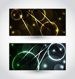 Set of abstract futuristic cards